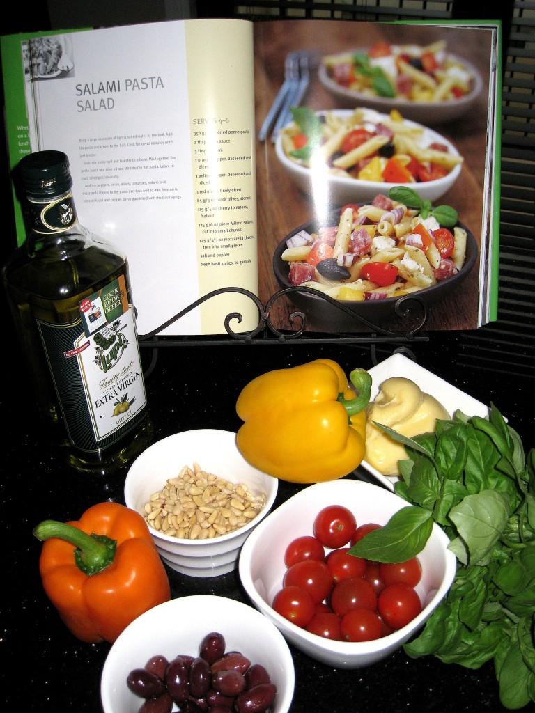 Salami Pasta Salad ingredients