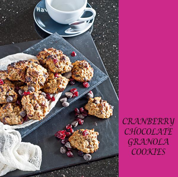 Cranberry, Chocolate Granola Cookies