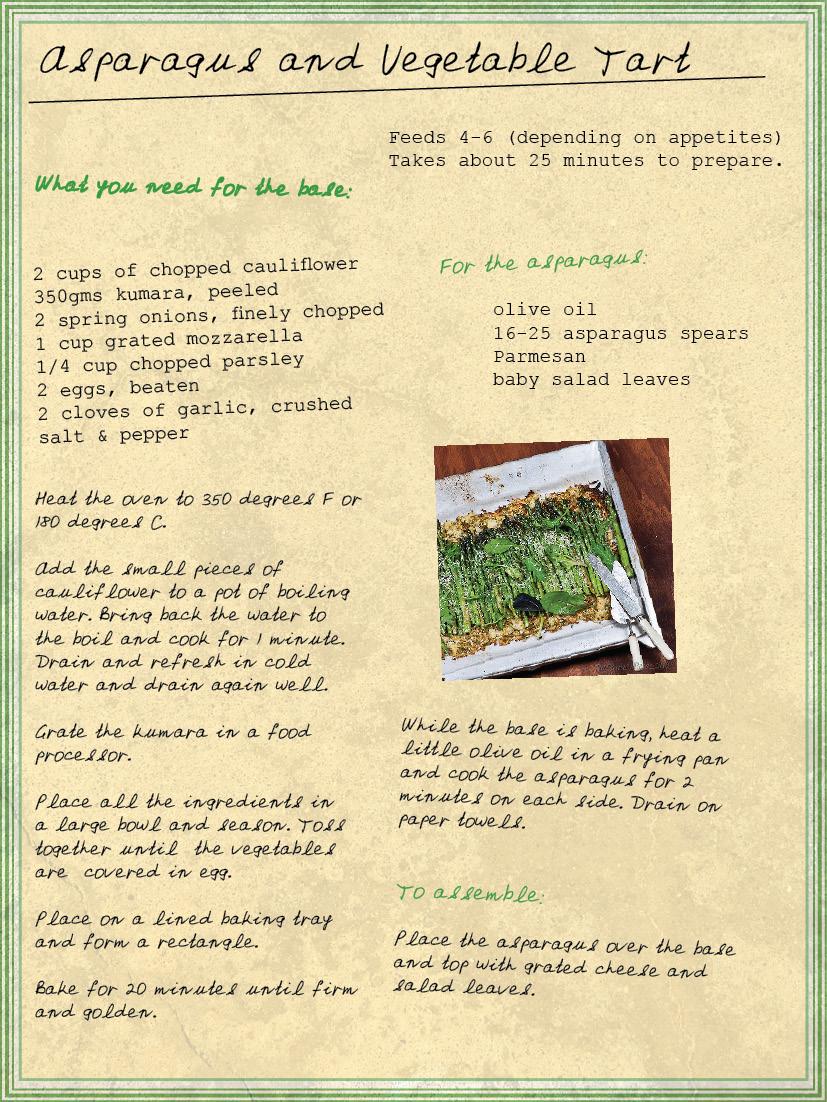 Asparagus and Vegetable Tart