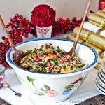 Eggplant, Quinoa, Hazelnut & Brie Salad Recipe