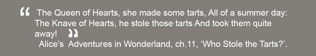 Queen of Hearts quote