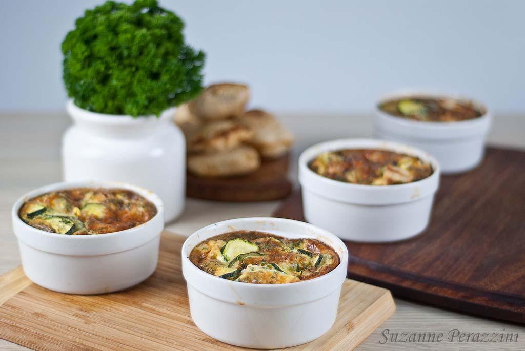 Chicken Zucchini Gruyere Clafoutis - Gluten-free and low FODMAPs