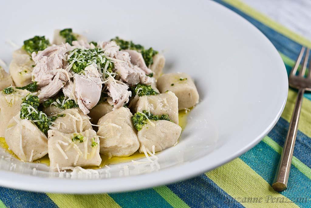 Pesto chicken gnocchi - gluten-free and low FODMAP