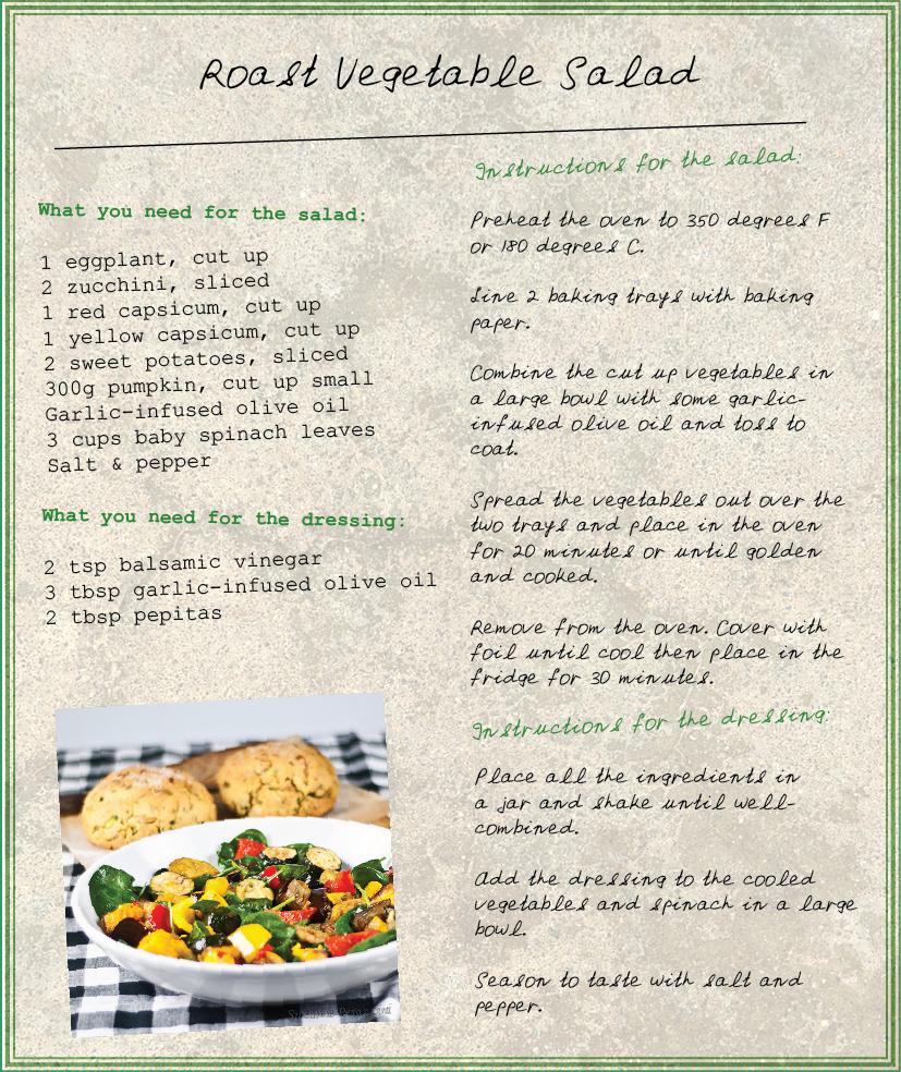 Roasted Vegetables & Zucchini Cornbread - a gluten-free & low FODMAP recipe