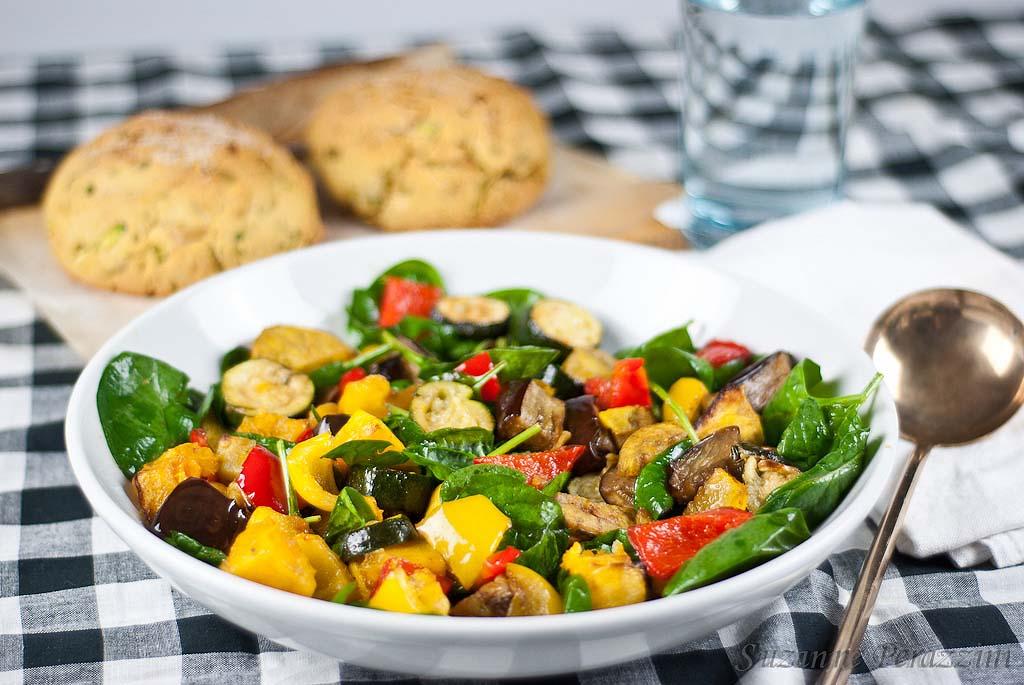 Roast Vegetable Salad & Zucchini Cornbread - a gluten-free ...