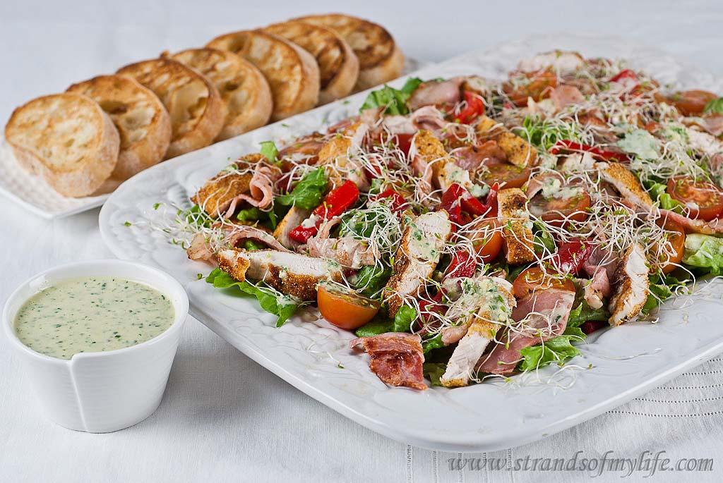 Jamie Oliver Dinner Party Ideas Part - 41: Crispy Polenta Chicken Caesar Salad - Jamie Oliveru0027s 15 Minute Meals U2022  Strands Of My Life