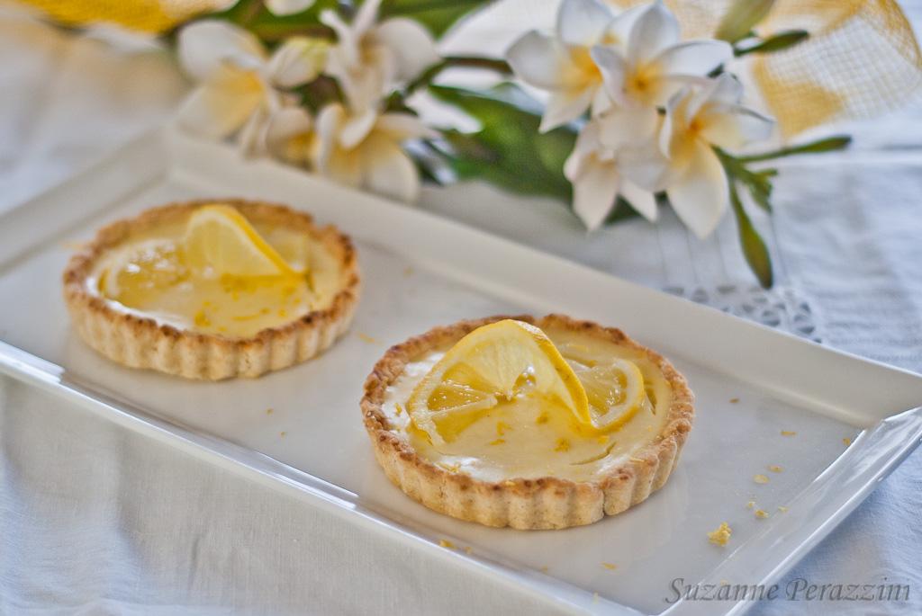 Creamy Lemon tarts gluten-free and low FODMAP