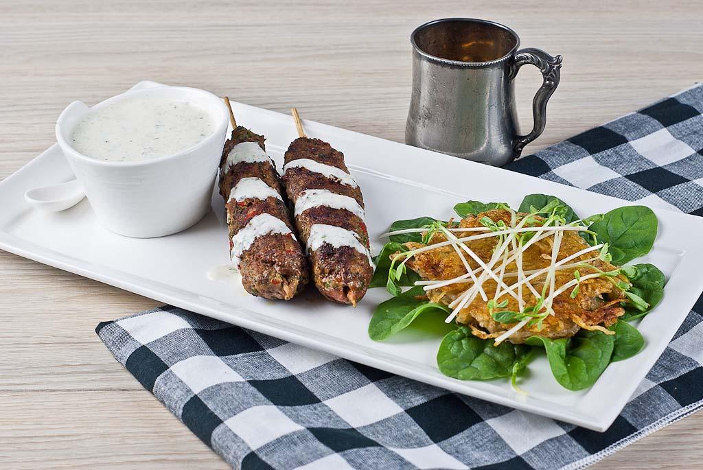 Lamb Kofta & Potato Rosti -gluten-free and low FODMAP