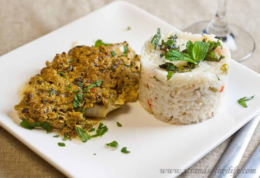 Fish in spicy yoghurt sauce – low Fodmap and gluten-free