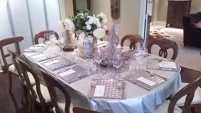 Margot's beautiful Christmas table