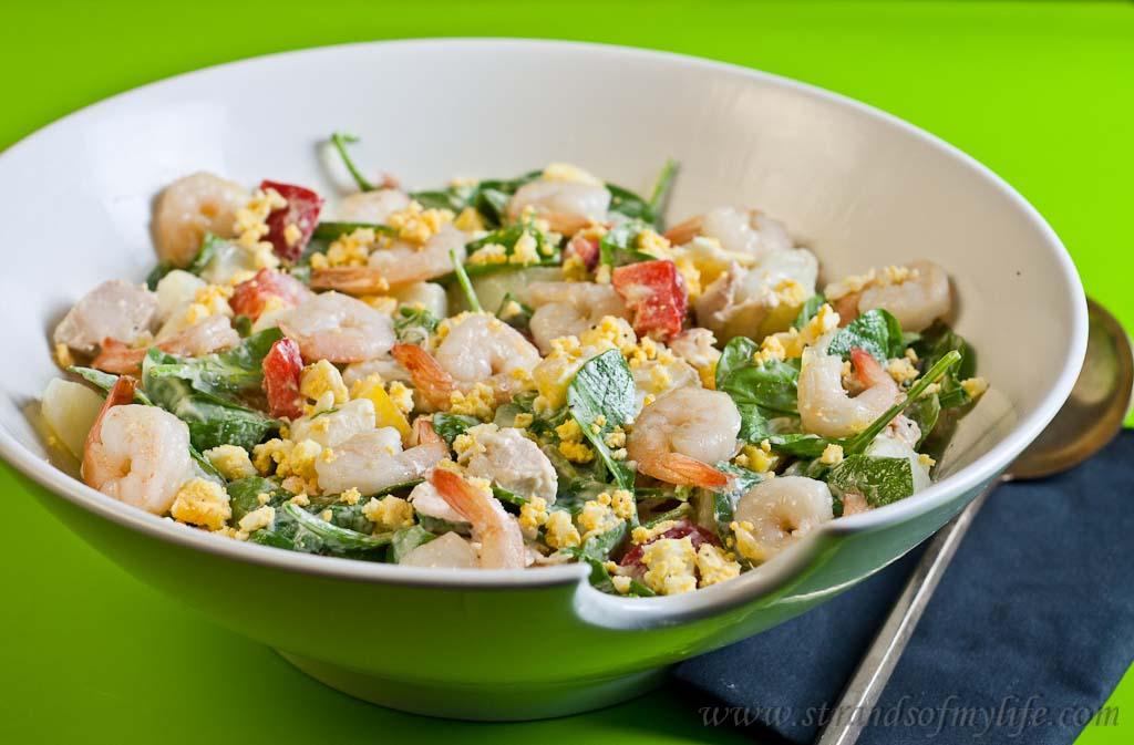 Low Fodmap Chicken Prawn salad