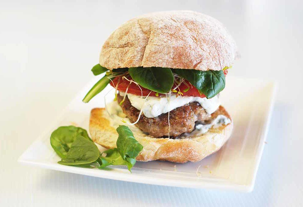 Low Fodmap Lamb burger